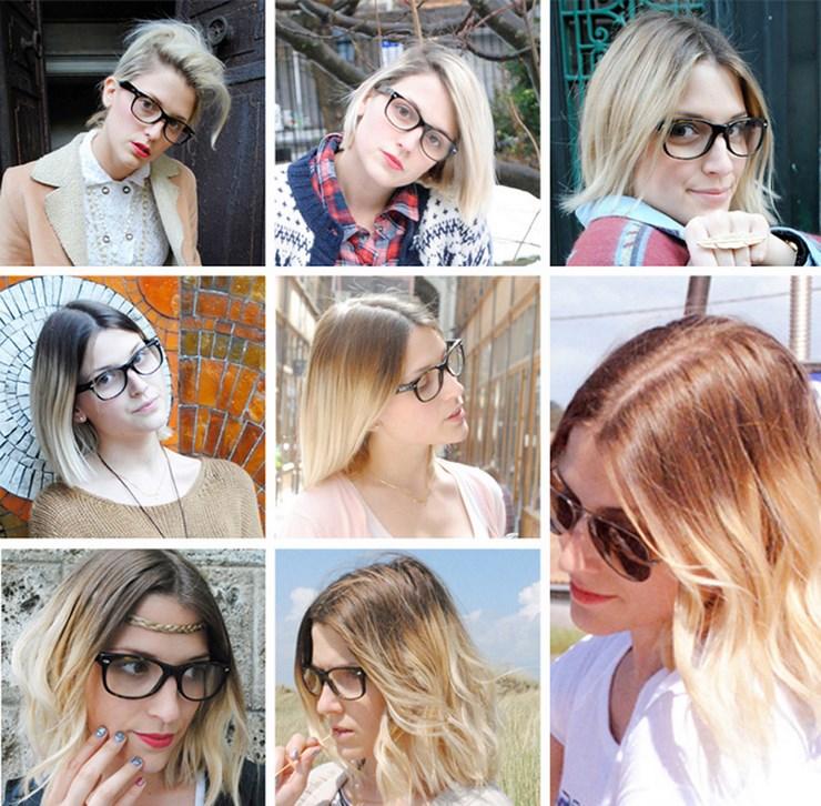 Tie and dye blond sur cheveux mi long