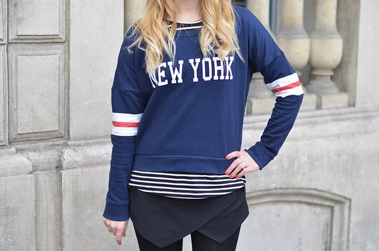 Sweat Jennyfer, top New Look, jupe short Zara, Nike et lunettes de vue  Youmakefashion x Acuitis (à gagner ici). d9e278a966ed
