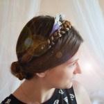 Tuto coiffure : couronne de tresses fleuries