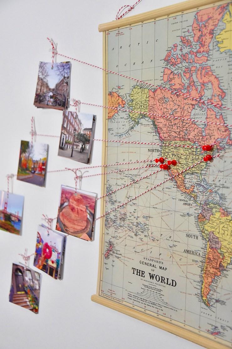 diy d co sp cial voyage travel map youmakefashion. Black Bedroom Furniture Sets. Home Design Ideas