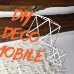DIY DÉCO : UN MOBILE (avec des pailles en papier)