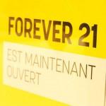 Shopping : ouverture de Forever 21 en France (Vélizy 2)